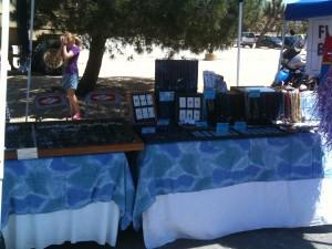 Quarter Moon vendor table at craft show